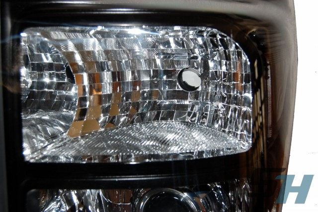 2012 Ford F350 Superduty Black Chrome HID Projector Headlamps