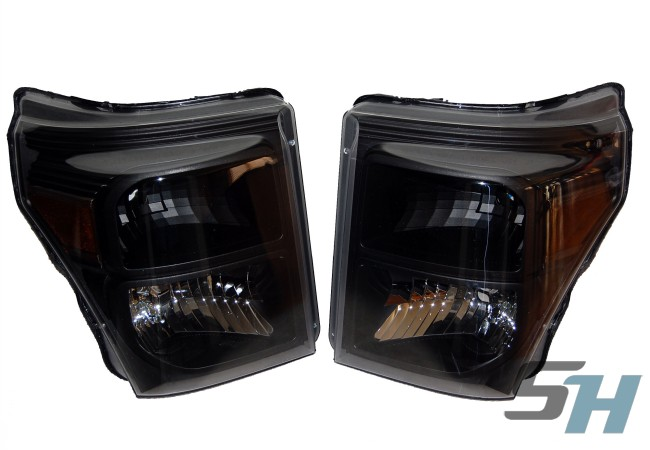 2015 Ford Superduty Black Painted Headlights