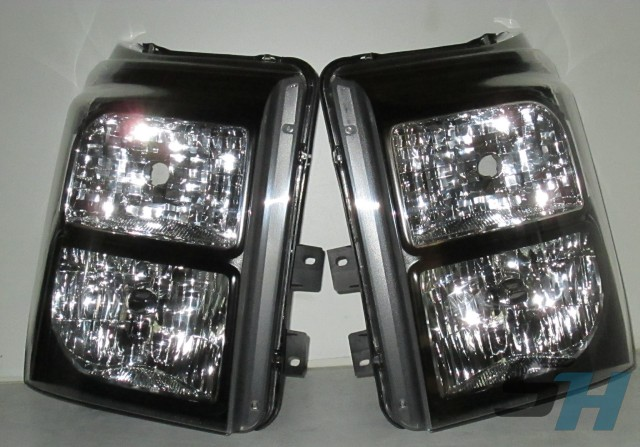 2016 Superduty Black Chrome White Custom Painted Healdights