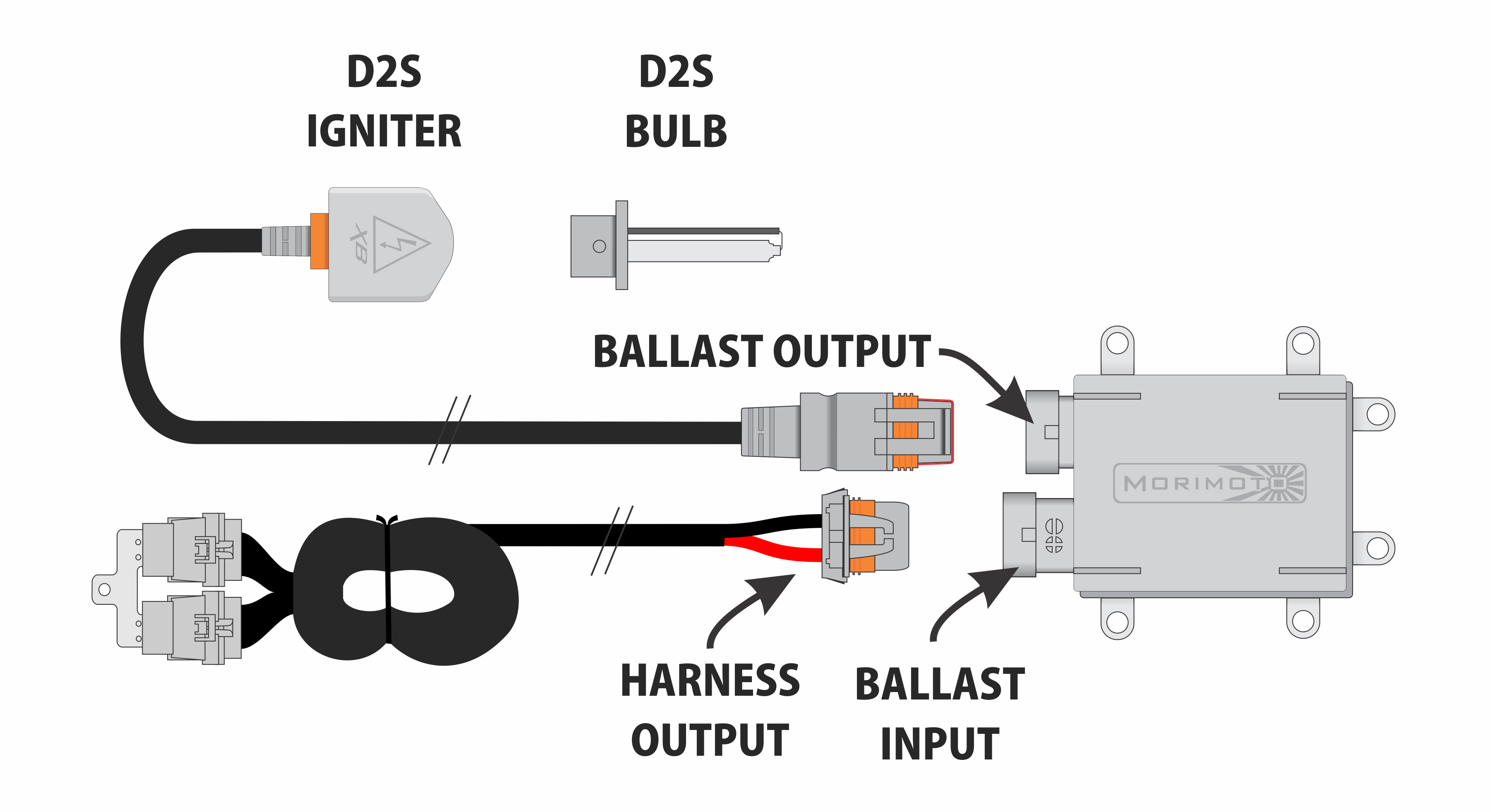 Support Hb2 Bulb F450 Wiring Diagram Note We Do Not Guarantee Proper Function Without The Use Of An Approved Morimoto Wire Harness