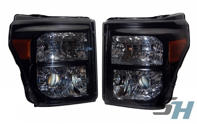 2015 Ford F350 Superduty Black Chrome HID Projector Headlights D2S