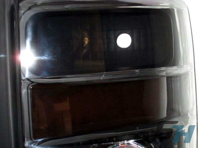 2008 Ford Superduty F350 HID Black D2S Projector Headlights