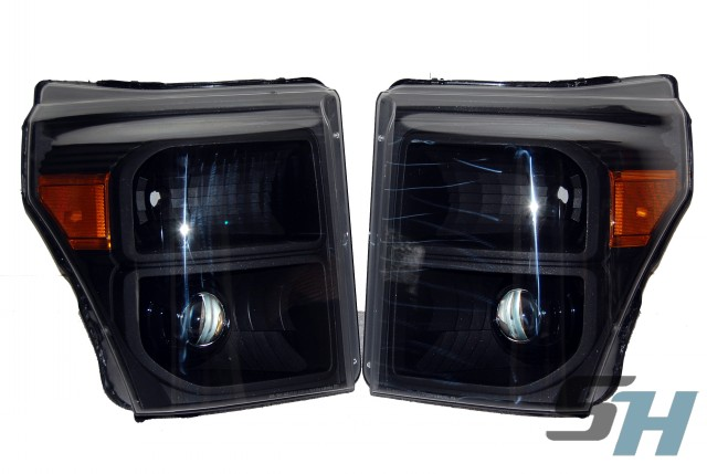2014 Ford Superduty All Black HID Projector Headlights